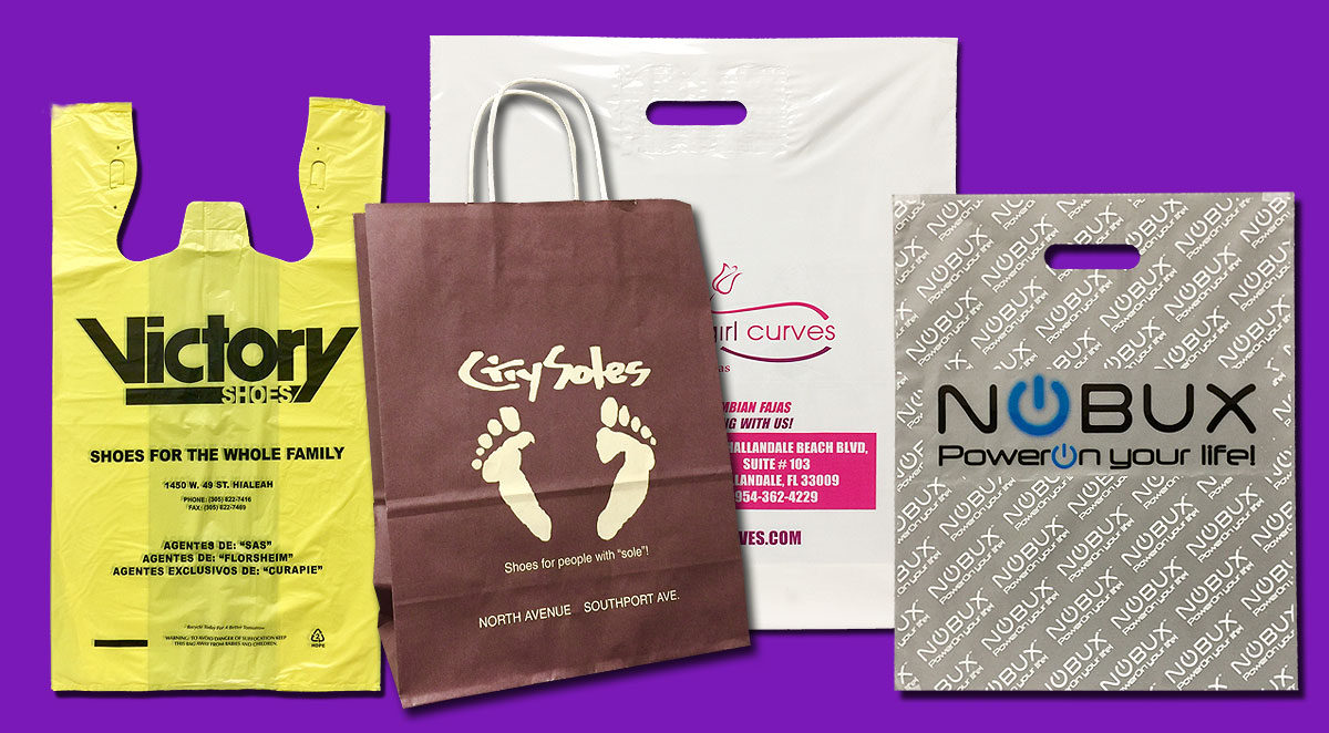 Custom printed shopping bags custom retail bags for Personalized t shirt bags
